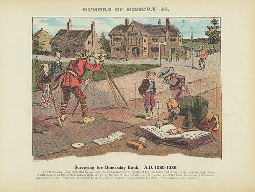 Surveying for Domesday Book. AD 1080–1086. Illustration for Humors of History (Sully and Ford, c 1905).