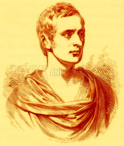Sir Thomas Stamford Raffles, Knt. After a bust by Chantrey.  Illustration for A Comprehensive History of India by Henry Beveridge (Blackie, 1862).