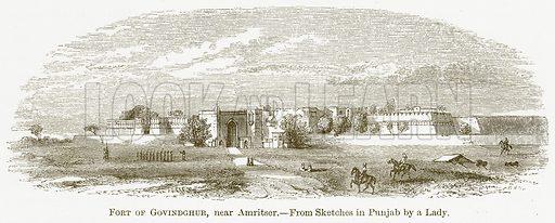 Fort of Govindghur, near Amritser. Illustration for A Comprehensive History of India by Henry Beveridge (Blackie, 1862).
