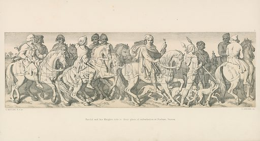 Harold and his Knights Ride to their Place of Embarkation, at Bosham, Sussex. Illustration for The Norman Conquest (Art Union, 1866).