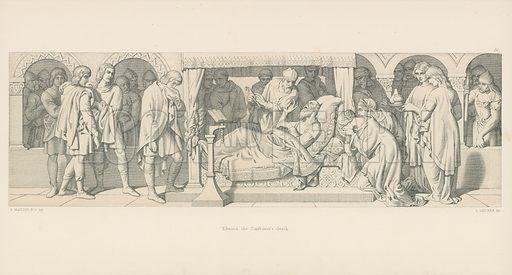 Edward the Confessor's Death. Illustration for The Norman Conquest (Art Union, 1866).