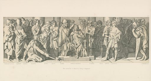 The Coronation of Harold as King of England. Illustration for The Norman Conquest (Art Union, 1866).