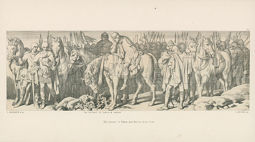 The Retreat of Edwin and Morcar from York. Illustration for The Norman Conquest (Art Union, 1866).
