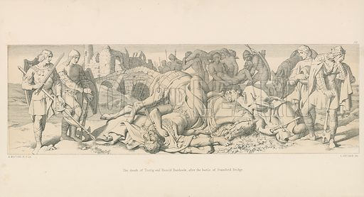 The Death of Tostig and Harold Hardrada, after the Battle of Stamford Bridge. Illustration for The Norman Conquest (Art Union, 1866).