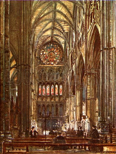Interior of the North Transept. Illustration for Westminster Abbey (Adam and Charles Black, 1904).