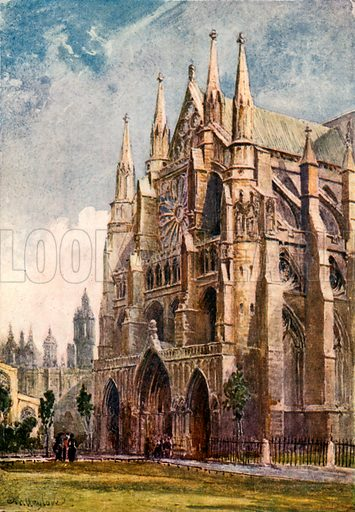 The North Transept. Illustration for Westminster Abbey (Adam and Charles Black, 1904).