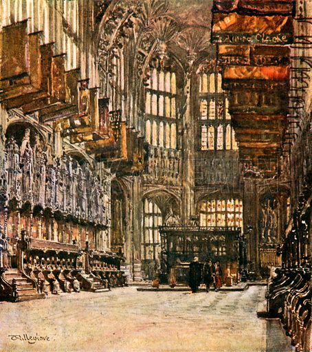 The Chapel of Henry VII, looking east. Illustration for Westminster Abbey (Adam and Charles Black, 1904).