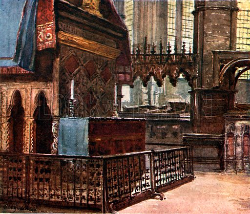 The West End of the Confessor's Shrine, with the Modern Altar. Illustration for Westminster Abbey (Adam and Charles Black, 1904).