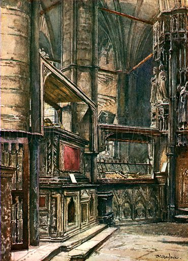 The Tomb of Henry III, from St Edward's Chapel. Illustration for Westminster Abbey (Adam and Charles Black, 1904).