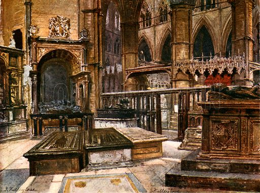 Earl Brasses and Picturesque Tombs in St Edmund's Chapel. Illustration for Westminster Abbey (Adam and Charles Black, 1904).