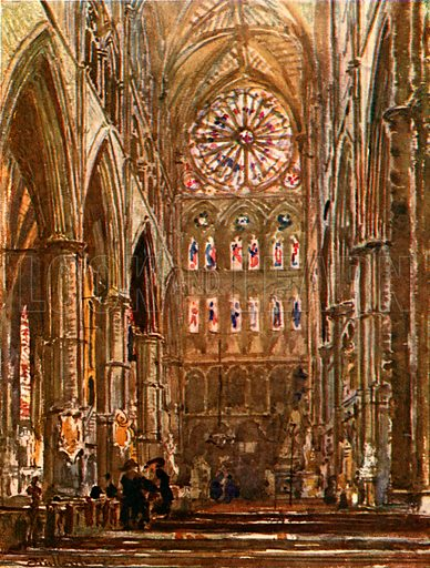 Interior of the South Transept. Illustration for Westminster Abbey (Adam and Charles Black, 1904).