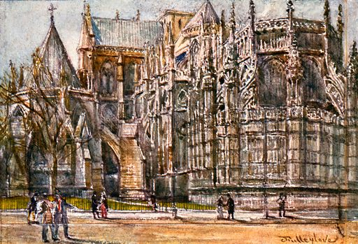 The Chapter House and East End of Henry VII's Chapel. Illustration for Westminster Abbey (Adam and Charles Black, 1904).