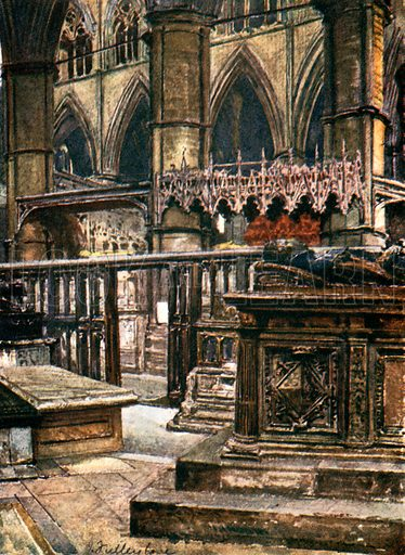 St Edmund's Chapel, showing the Tomb of the Duchess of Suffolk, Lady Jane Grey's mother. Illustration for Westminster Abbey (Adam and Charles Black, 1904).