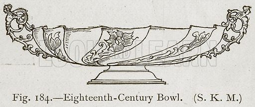 Eighteenth-Century Bowl. Illustration for Historic Ornament by James Ward (Chapman and Hall, 1897).