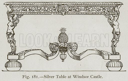 Silver Table at Windsor Castle. Illustration for Historic Ornament by James Ward (Chapman and Hall, 1897).