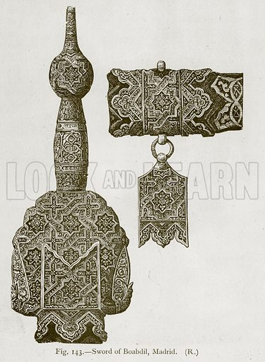 Sword of Boabdil, Madrid. Illustration for Historic Ornament by James Ward (Chapman and Hall, 1897).
