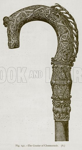 The Crozier of Clonmacnois. Illustration for Historic Ornament by James Ward (Chapman and Hall, 1897).