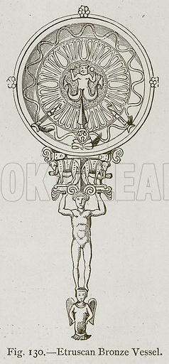 Etruscan Bronze Vessel. Illustration for Historic Ornament by James Ward (Chapman and Hall, 1897).