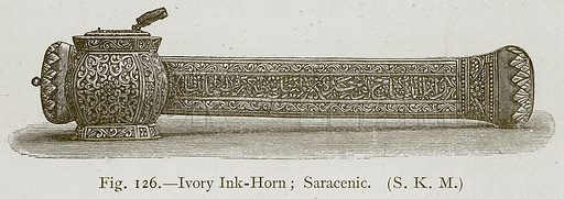 Ivory Ink-Horn; Saracenic. Illustration for Historic Ornament by James Ward (Chapman and Hall, 1897).