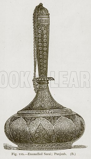 Enamelled Sarai; Punjaub. Illustration for Historic Ornament by James Ward (Chapman and Hall, 1897).