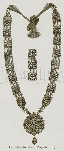 Necklace; Punjaub. Illustration for Historic Ornament by James Ward (Chapman and Hall, 1897).