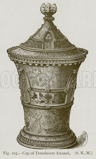Cup of Translucent Enamel. Illustration for Historic Ornament by James Ward (Chapman and Hall, 1897).
