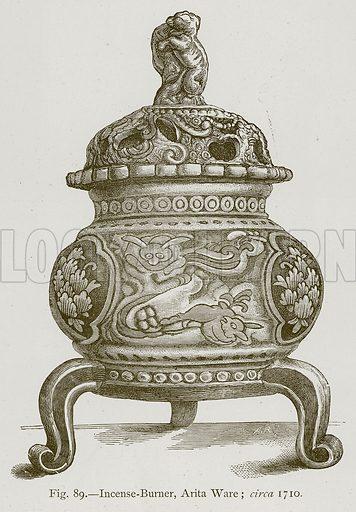 Incense-Burner, Arita Ware; Circa 1710. Illustration for Historic Ornament by James Ward (Chapman and Hall, 1897).