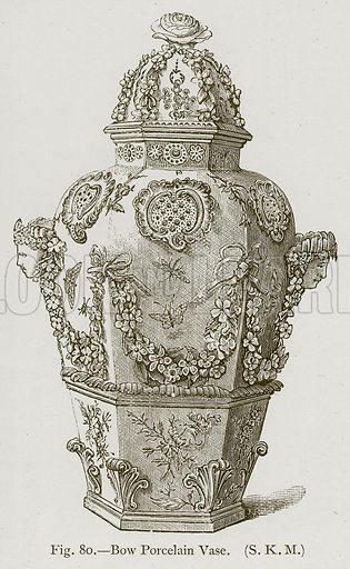 Bow Porcelain Vase. Illustration for Historic Ornament by James Ward (Chapman and Hall, 1897).