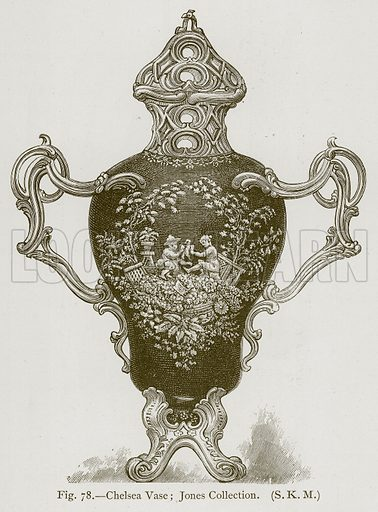 Chelsea Vase; Jones Collection. Illustration for Historic Ornament by James Ward (Chapman and Hall, 1897).