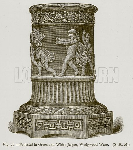 Pedestal in Green and White Jasper, Wedgwood Ware. Illustration for Historic Ornament by James Ward (Chapman and Hall, 1897).