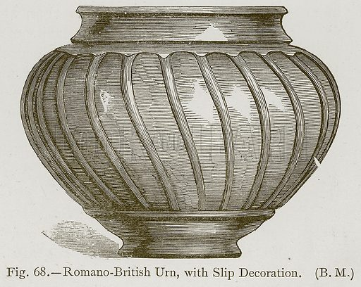 Romano-British Urn, with Slip Decoration. Illustration for Historic Ornament by James Ward (Chapman and Hall, 1897).