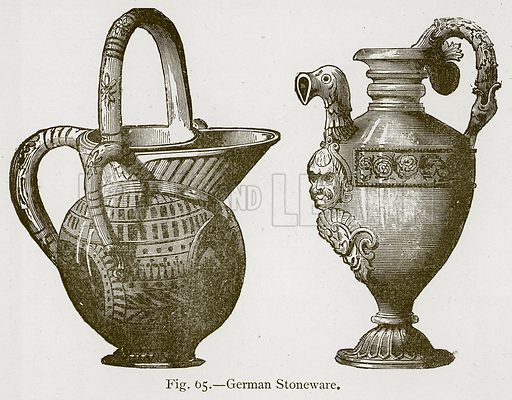 German Stoneware. Illustration for Historic Ornament by James Ward (Chapman and Hall, 1897).