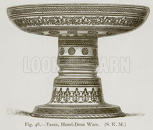 Tazza, Henri-Deux Ware. Illustration for Historic Ornament by James Ward (Chapman and Hall, 1897).