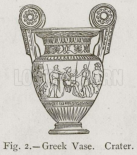 Greek Vase. Crater. Illustration for Historic Ornament by James Ward (Chapman and Hall, 1897).