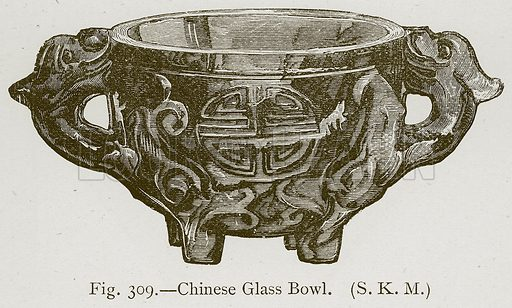 Chinese Glass Bowl. Illustration for Historic Ornament by James Ward (Chapman and Hall, 1897).