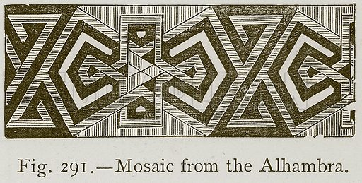 Mosaic from the Alhambra. Illustration for Historic Ornament by James Ward (Chapman and Hall, 1897).