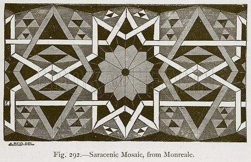 Saracenic Mosaic, from Monreale. Illustration for Historic Ornament by James Ward (Chapman and Hall, 1897).