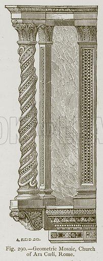 Geometric Mosaic, Church of Ara Coeli, Rome. Illustration for Historic Ornament by James Ward (Chapman and Hall, 1897).