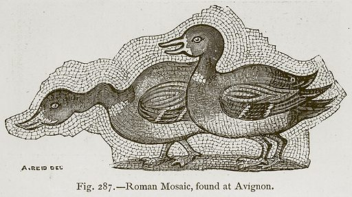 Roman Mosaic, found at Avignon. Illustration for Historic Ornament by James Ward (Chapman and Hall, 1897).