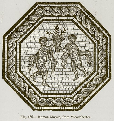 Roman Mosaic, from Woodchester. Illustration for Historic Ornament by James Ward (Chapman and Hall, 1897).