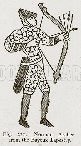 Norman Archer from the Bayeux Tapestry. Illustration for Historic Ornament by James Ward (Chapman and Hall, 1897).