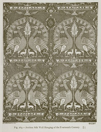 Arabian Silk Wall Hanging of the Fourteenth Century. Illustration for Historic Ornament by James Ward (Chapman and Hall, 1897).