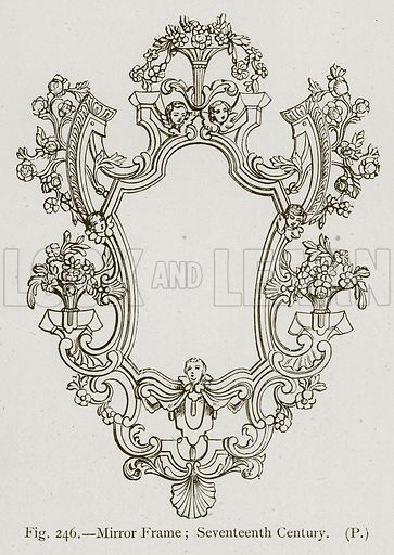 Mirror Frame; Seventeenth Century. Illustration for Historic Ornament by James Ward (Chapman and Hall, 1897).