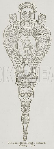 Italian Work; Sixteenth Century. Illustration for Historic Ornament by James Ward (Chapman and Hall, 1897).