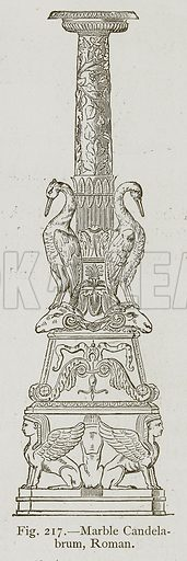Marble Candelabrum, Roman. Illustration for Historic Ornament by James Ward (Chapman and Hall, 1897).