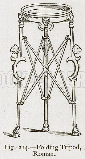 Folding Tripod, Roman. Illustration for Historic Ornament by James Ward (Chapman and Hall, 1897).