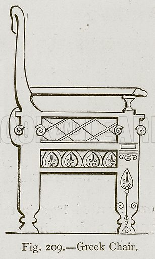 Greek Chair. Illustration for Historic Ornament by James Ward (Chapman and Hall, 1897).