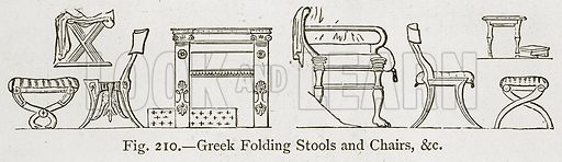 Greek Folding Stools and Chairs, &c Illustration for Historic Ornament by James Ward (Chapman and Hall, 1897).