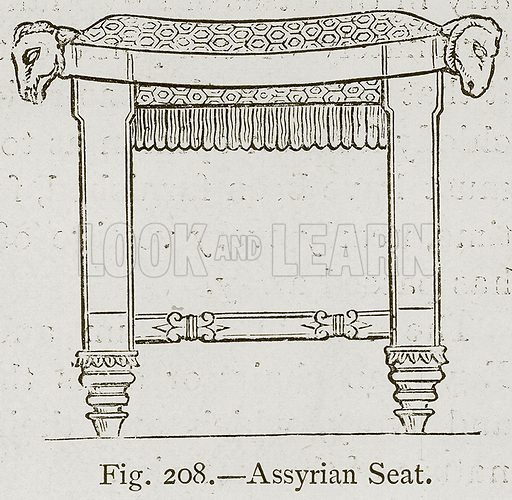 Assyrian Seat. Illustration for Historic Ornament by James Ward (Chapman and Hall, 1897).