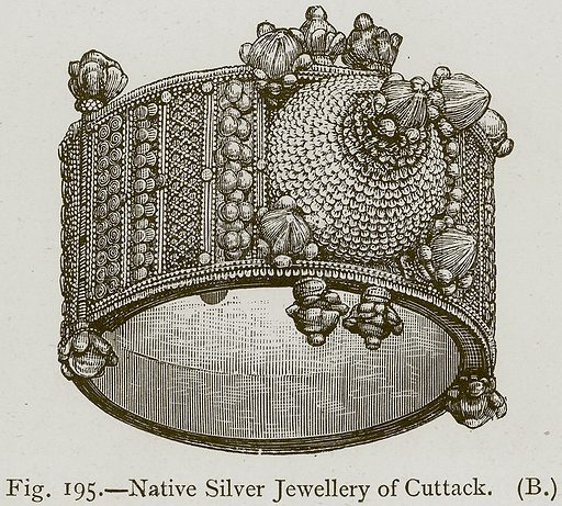 Native Silver Jewellery of Cuttack. Illustration for Historic Ornament by James Ward (Chapman and Hall, 1897).